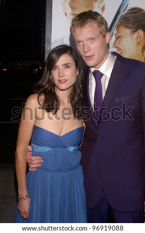 Actor PAUL BETTANY & wife actress JENNIFER CONNELLY at the world premiere, in Beverly Hills, of his new movie romantic tennis comedy Wimbledon. September 13, 2004 - stock photo