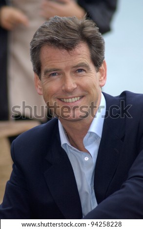 Actor PIERCE BROSNAN at the Cannes Film Festival to promote his new Bond movie Die Another Day. 18MAY2002.   Paul Smith / Featureflash - stock photo