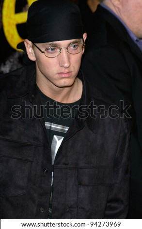 Actor/rapper EMINEM at the world premiere of his new movie 8 Mile, in Los Angeles. 06NOV2002.   Paul Smith / Featureflash - stock photo