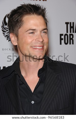 "Actor ROB LOWE at the Los Angeles premiere of his new movie ""Thank You For Smoking"". March 16, 2006  Los Angeles, CA  2006 Paul Smith / Featureflash"