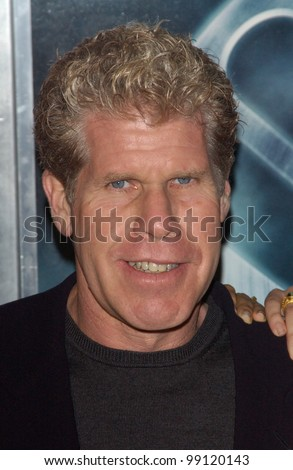 Actor RON PERLMAN at the Los Angeles premiere of his new movie Hellboy. March 30, 2004