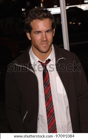 Actor RYAN REYNOLDS at the US premiere of Miss Congeniality 2 - Armed and Fabulous, at the Grauman's Chinese Theatre, Hollywood. March 23, 2005 Los Angeles, CA.  2005 Paul Smith / Featureflash