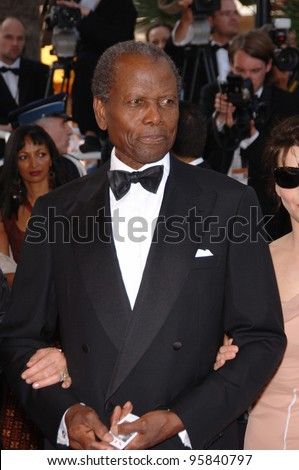 "Actor SIDNEY POITIER at the gala screening of ""The Da Vinci Code"" at the 59th Annual International Film Festival de Cannes. May 17, 2006  Cannes, France.  2006 Paul Smith / Featureflash"