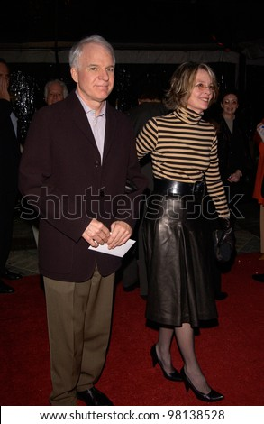 Actor STEVE MARTIN & actress DIANE KEATON at the world premiere, in Hollywood, of Domestic Disturbance.  30OCT2001.   Paul Smith/Featureflash - stock photo
