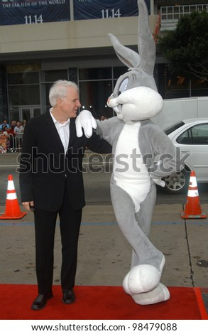Actor STEVE MARTIN at the world premiere, in Hollywood, of his new movie Looney Tunes Back in Action. November 9, 2003  Paul Smith / Featureflash - stock photo