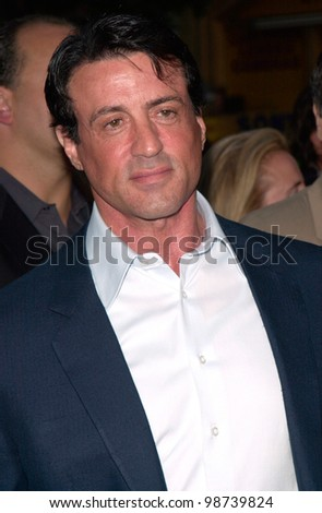 Actor SYLVESTER STALLONE at the premiere of his new movie Driven, at Manns Chinese Theatre, Hollywood. 16APR2001.    Paul Smith/Featureflash