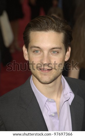 Actor TOBEY MAGUIRE at the world premiere, in Los Angeles, of his new movie Seabiscuit. July 22, 2003  Paul Smith / Featureflash