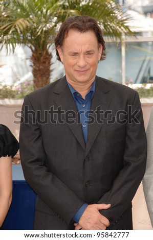 "Actor TOM HANKS at the photocall for the cast of ""The Da Vinci Code"" at the 59th Annual International Film Festival de Cannes. May 17, 2006  Cannes, France.  2006 Paul Smith / Featureflash"