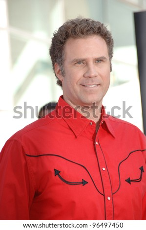 Actor WILL FERRELL at the world premiere, in Hollywood, of his new animated movie Curious George. January 28, 2006  Los Angeles, CA  2006 Paul Smith / Featureflash - stock photo