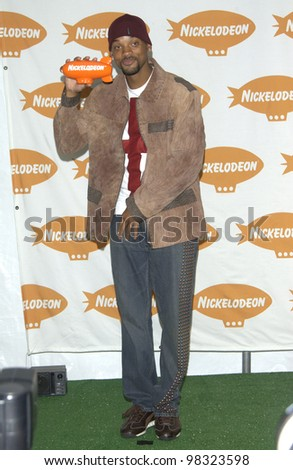 Actor WILL SMITH at Nickelodeon's 16th Annual Kids' Choice Awards in Santa Monica. April 12, 2003 - stock photo