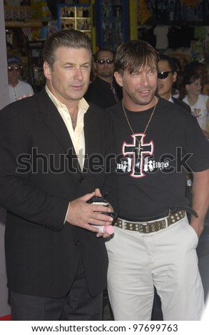Actors ALEC BALDWIN (left) & STEPHEN BALDWIN at the Hollywood premiere of Freaky Friday. Aug 4, 2003  Paul Smith / Featureflash