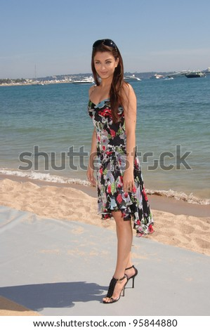 """Actress AISHWARYA RAI at the 59th Annual International Film Festival de Cannes. She is promoting her new movie """"Provoked"""". May 17, 2006  Cannes, France.  2006 Paul Smith / Featureflash - stock photo"""