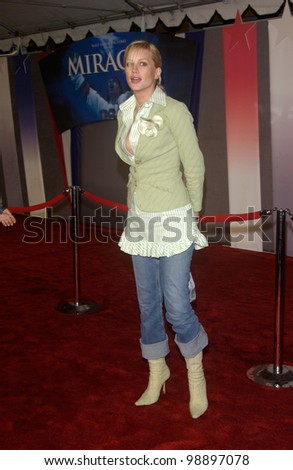 Actress ALICE EVANS at the world premiere, in Hollywood, of Miracle. February 2, 2004