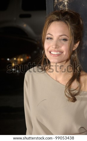 Actress ANGELINA JOLIE at the world premiere, in Hollywood, of her new movie Taking Lives. March 16, 2004 - stock photo