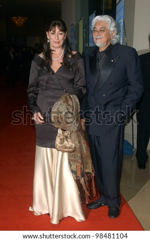Actress ANJELICA HUSTON & husband ROBERT GRAHAM at the 18th Annual American Cinematheque Gala honoring Nicole Kidman. November 14, 2003  Paul Smith / Featureflash - stock photo