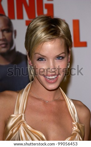 Actress ASHLEY SCOTT at the world premiere, in Hollywood, of her new movie Walking Tall. March 29, 2004
