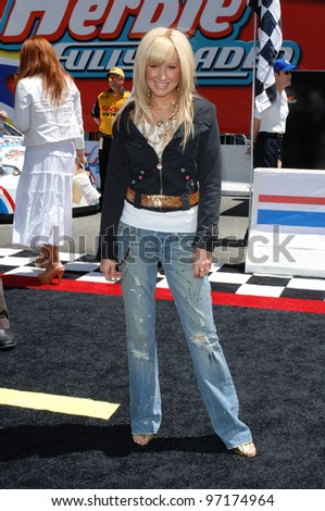 Actress ASHLEY TISDALE at the the world premiere, on Hollywood Boulevard, of Walt Disney Pictures' Herbie: Fully Loaded. June 19, 2005 Los Angeles, CA  2005 Paul Smith / Featureflash - stock photo