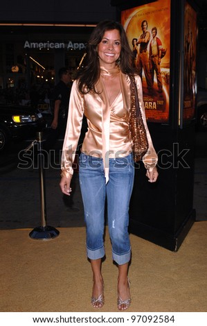 Actress BROOKE BURKE at the Los Angeles premiere of Sahara, at the Grauman's Chinese Theatre, Hollywood. April 04, 2005  Los Angeles, CA.  2005 Paul Smith / Featureflash - stock photo