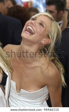 Actress CAMERON DIAZ at the Hollywood premiere of her new movie Charlie's Angels: Full Throttle. June 18, 2003  Paul Smith / Featureflash - stock photo