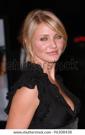 Actress CAMERON DIAZ at the Los Angeles premiere of her new movie In Her Shoes. September 28, 2005  Los Angeles, CA.  2005 Paul Smith / Featureflash - stock photo