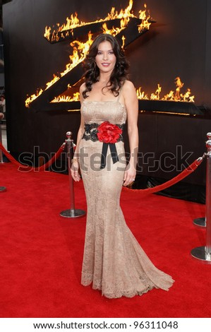 Actress CATHERINE ZETA-JONES at the Los Angeles premiere of her new movie The Legend of Zorro. October 16, 2005  Los Angeles, CA.  2005 Paul Smith / Featureflash - stock photo