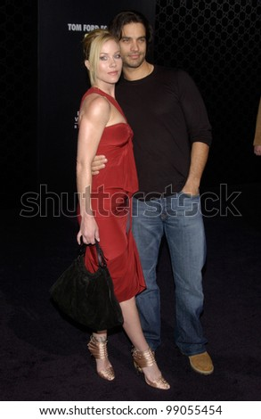 Actress CHRISTINIA APPLEGATE & husband actor JONATHAN SCHAECH at the Rodeo Drive Walk of Style Gala honoring Gucci's Tom Ford. March 28, 2004 - stock photo