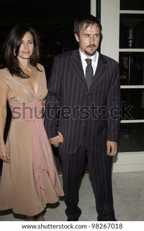 Actress COURTENEY COX ARQUETTE & actor husband DAVID ARQUETTE at the Wellness Community of West Los Angeles Human Spirit Awards Gala, at the Regent Beverly Wilshire Hotel, Beverly Hills. March 26, 2003