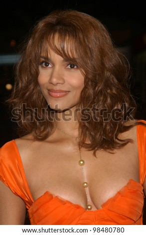 Actress HALLE BERRY at the world premiere, in Los Angeles, of her new movie Gothika. November 13, 2003  Paul Smith / Featureflash - stock photo