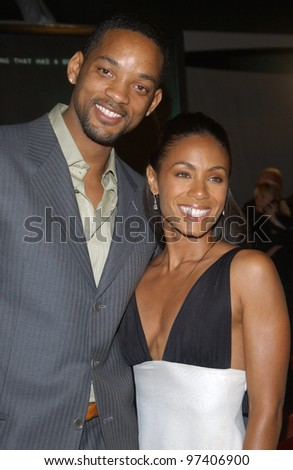 Actress JADA PINKETT SMITH & husband actor WILL SMITH at the world premiere, in Los Angeles, of her new movie The Matrix Revolutions. October 27, 2003  Paul Smith / Featureflash - stock photo