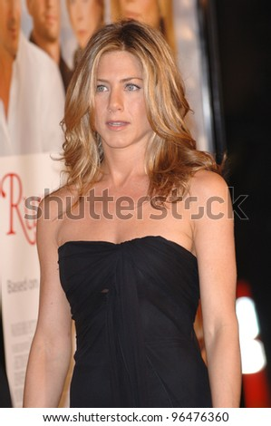 Actress JENNIFER ANISTON at the world premiere, in Hollywood, of her new movie Rumor Has It. December 15, 2005  Los Angeles, CA.  2005 Paul Smith / Featureflash - stock photo