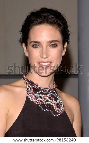 Actress JENNIFER CONNELLY at the world premiere, in Beverly Hills, of her new movie A Beautiful Mind. 13DEC2001.  Paul Smith/Featureflash - stock photo