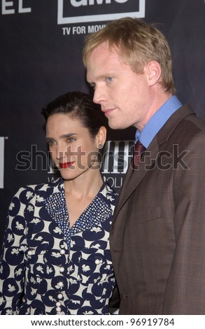 Actress JENNIFER CONNELLY & husband actor PAUL BETTANY at the Premiere magazine 11th Annual Women in Hollywood Luncheon at the Four Seasons Hotel, Beverly Hills. September 14, 2004 - stock photo