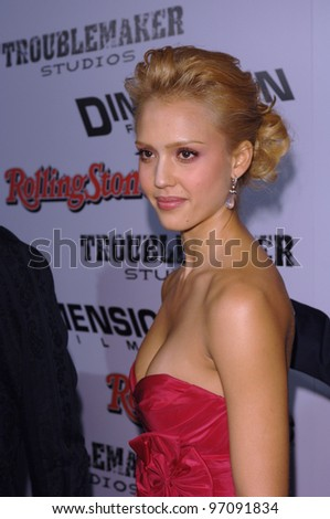 Actress JESSICA ALBA at the Los Angeles premiere of her new movie Sin City. March 28, 2005 Los Angeles, CA.  2005 Paul Smith / Featureflash - stock photo