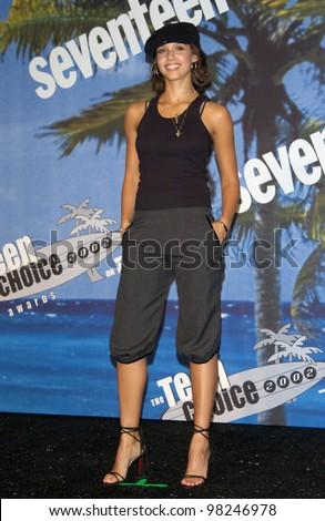 Actress JESSICA ALBA at the 2002 Teen Choice Awards at Universal Studios, Hollywood. 04AUG2002.   Paul Smith/Featureflash - stock photo