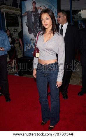 Actress JESSICA ALBA at the world premiere, in Los Angeles, of Lara Croft: Tomb Raider. 11JUN2001.    Paul Smith/Featureflash - stock photo
