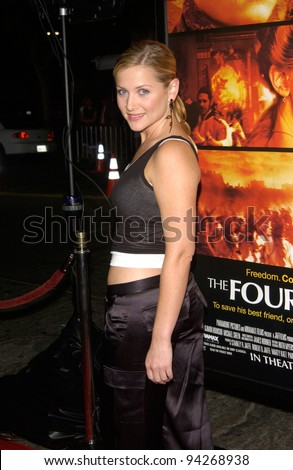 Actress JESSICA CAPSHAW at the world premiere, in Los Angeles, of The Four Feathers. 17SEP2002.   Paul Smith / Featureflash