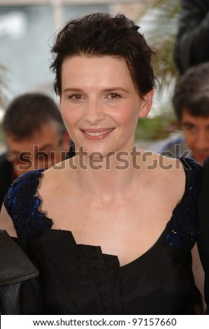 Actress JULIETTE BINOCHE at the 58th Annual Film Festival de Cannes where her movie Cach is in competition. May 14, 2005 Cannes, France.  2005 Paul Smith / Featureflash - stock photo