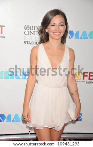 "Actress Kate Easton arrives at the 2012 Los Angeles Film Festival premiere of ""Magic Mike"" held at the at Regal Cinemas L.A Live."