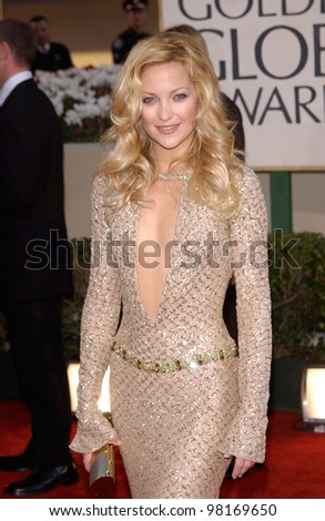 Actress KATE HUDSON at the 59th Annual Golden Globe Awards in Beverly Hills. 20JAN2002  Paul Smith/Featureflash - stock photo