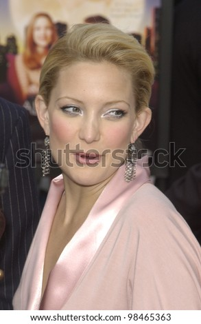 Actress KATE HUDSON at the world premiere, in Hollywood, of her new movie Alex & Emma. June 16, 2003