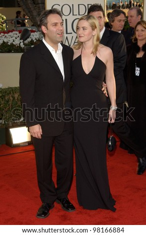 Actress KATE WINSLET & boyfriend director SAM MENDES at the 59th Annual Golden Globe Awards in Beverly Hills. 20JAN2002  Paul Smith/Featureflash