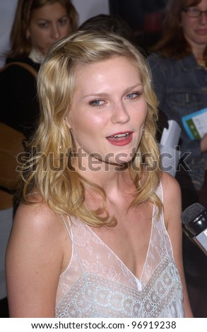 Actress KIRSTEN DUNST at the world premiere, in Beverly Hills, of her new movie, tennis romantic comedy, Wimbledon. September 13, 2004 - stock photo