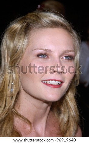 Actress KIRSTEN DUNST at the world premiere, in Beverly Hills, of her new movie, tennis romantic comedy, Wimbledon. September 13, 2004