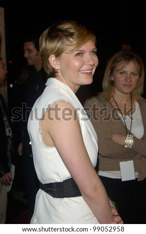 Actress KIRSTEN DUNST at the world premiere of her new movie Eternal Sunshine of the Spotless Mind, in Beverly Hills, CA. March 9, 2004 - stock photo