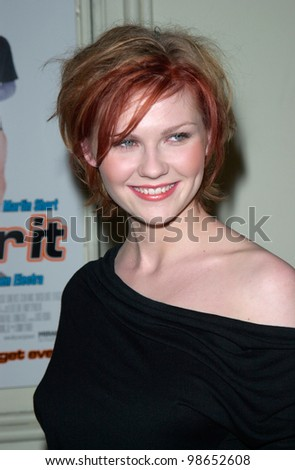 Actress KIRSTEN DUNST at the world premiere of her new movie Get Over It, in Los Angeles. 08MAR2001.    Paul Smith/Featureflash - stock photo