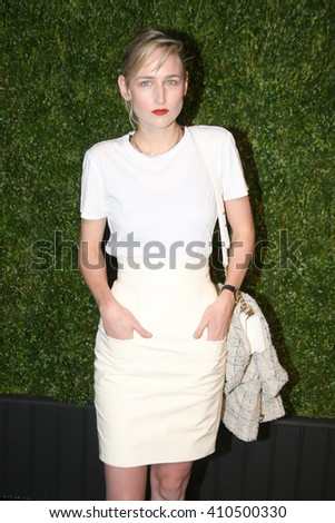 Actress Leelee Sobieski attends the 11th Annual Chanel Tribeca Film Festival Artists Dinner at Balthazar on April 18, 2016 in New York City. - stock photo
