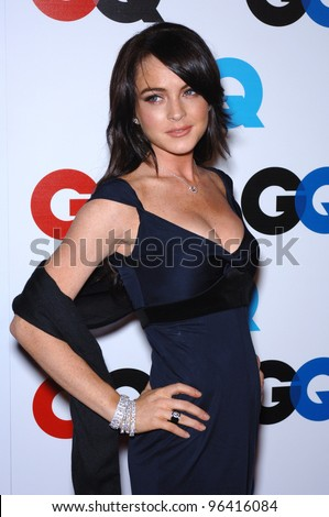 Actress LINDSAY LOHAN at GQ Magazine's 2005 Men of the Year party in Beverly Hills. December 1, 2005  Beverly Hills, CA.  2005 Paul Smith / Featureflash - stock photo