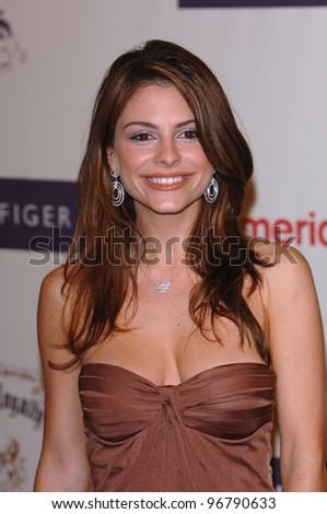 "Actress MARIA MENOUNOS at the 12th Annual Race to Erase MS Gala themed ""Rock & Royalty to Erase MS"" at the Century Plaza Hotel. April 22, 2005  Beverly Hills, CA.  2005 Paul Smith / Featureflash"