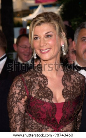 Actress MICHELE LAROQUE at the premiere of Shrek at the Cannes Film Festival. 12MAY2001.  Paul Smith/Featureflash