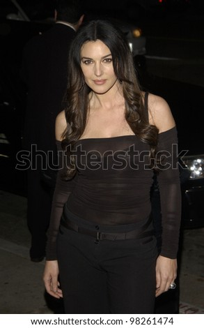 Actress MONICA BELLUCCI at the Los Angeles premiere of her new movie Tears of the Sun. 03MAR2003.   Paul Smith / Featureflash - stock photo